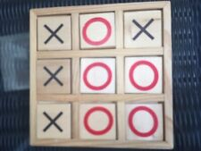 Wood Noughts & Crosses Game/Board/Home Decor/Play