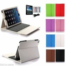 WHITE iPad 2 3 4 Retina iPad Stand Leather Case Cover + Bluetooth Keyboard