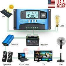MPPT Solar Panel Regulator Charge Controller Auto Focus Tracking 12V/24V 30-100A