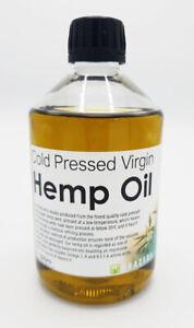 Hemp Oil - Cold Pressed Food Grade Virgin 500ml