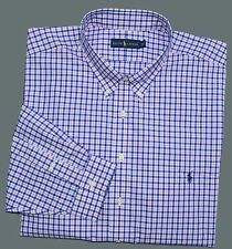 New 3XLT 3XL TALL POLO RALPH LAUREN Mens button down dress shirt pink plaid 3XT