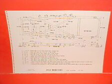 1956 MERCURY MONTCLAIR CONVERTIBLE FRAME DIMENSION CHART 56