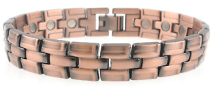 Men's Unisex Heavy Copper Magnetic Bracelet Clasp 20 Powerful Magnets Arthritis