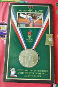 1995 Atlanta Olympics souvenir card - UNC gymnastics silver dollar - unopened
