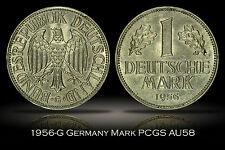 1956-G Germany Federal Republic Mark PCGS AU58 Great Luster Minimal Wear West