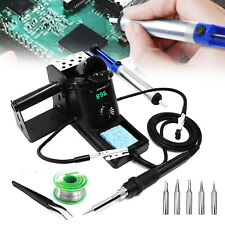 New Listing60w 110v Digital Rework Soldering Iron Station Kit Smd Welding Tool Lcd Display