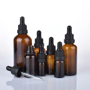 10 Pcs 5ml 10ml 15ml 20ml 30ml 50ml 100ml Amber Matt Glass Bottle With Dropper