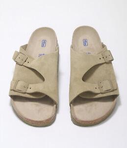 Birkenstock Zurich BS F/Khaki Unisex Slide Sandals 1019197 Free FedEx Shipping
