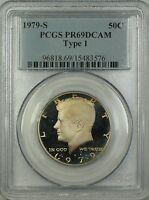 1979-S Type 1 Proof Kennedy Half Dollar 50c Coin PCGS PR-69 DCAM Deep Cameo