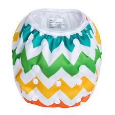 Rainbow Chevron - Reusable Modern Cloth Swim Nappy, Baby to Toddler, Washable