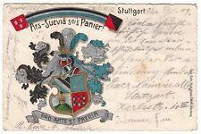 Stuttgart,Burschenschaft Ars Suevia Wappenlitho  1904