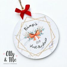 Wooden Bump's First Christmas Bauble Gift Keepsake/Decoration Mummy/Daddy to be