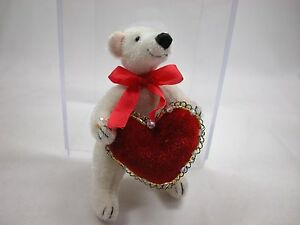 "World of Miniature Bears By Theresa Yang 3.5""  Bear  Valentine #975A CLOSING"