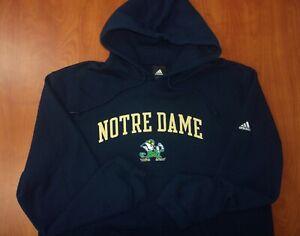 Adidas Notre Dame Fighting Irish Cotton Blend Hoodie Sweatshirt 2XL ~NEW~