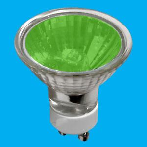 2x 50W GU10 Coloured Dimmable Halogen Reflector Spot Light Bulbs Lamps Downlight