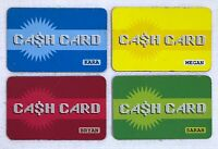 2004 Mall Madness Board Game Replacement Pieces -  4 CASH CARDS CREDIT CARDS