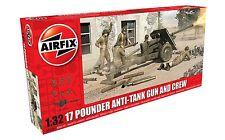 AIRFIX A06361 17 POUNDER ANTI-TANK GUN & CREW Plastic Model Kit For 6 Crew 1 Gun
