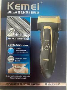 Kemei KM-858 Rechargeable Electric Shaver Razor Trimmer Mustache Hair Clipper