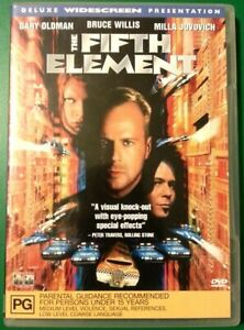 THE FIFTH ELEMENT - Deluxe Widescreen Presentation DVD 1997 film with poster art