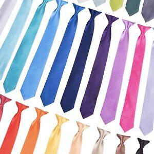 """Tie Co Men's Wide 3"""" 7.5cm Clip On Safety Tie - Range of Plain Colours + Black"""