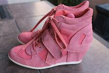 NEW Ash Women Shoes High Heel Sneaker TENNIS SHOES Size 41 US 10 SOLID Orange