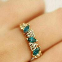 Luxus Damen Smaragdrhinestone-Kristallfinger Dazzling Ring Schmuck_  NEU