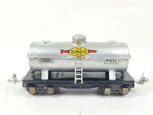 Vintage Lionel Prewar No. 654 Sunoco Single-Dome Tank Car O Gauge SEE PICS READ