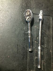 "Snap On TM70B Ratchet & TM10F Breaker Bar 1/4"" Drive"