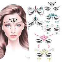 Face Jewelry Temporary Tattoo Art Stickers Glitter Cosmetics Shining Adhesive