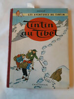 Album de TINTIN au Tibet B29 de 1960 édition originale française