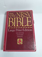 New Revised Standard Version Bible Large Print  Edition Hardcover Pastor Study
