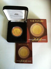 2001 $10 THE FUTURE MILLENNIUM SERIES GOLD PLATED SILVER AND COPPER COIN