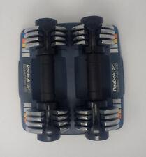 REEBOK SPEED PAC 25 ADJUSTABLE DUMBBELLS 2.5 to 12.5 lbs TOTAL 25lbs