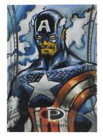 2014 Marvel Premier Captain America Sketch Card Wayne Beeman UD Upper Deck 1/1
