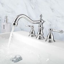 New listing Above Counter Semi Recessed Vessel Sink Faucet Chrome Drain 3 Hole Combo Set