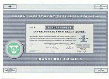 Union Investment Gesellschaft MBH  Frankfurt 1965   Europafonds 1