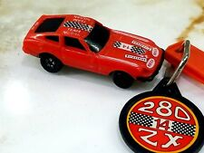 Vintage 1980 Kidco Datsun 280ZX Red Burnin Key Car with KEY 1/64 Scale RARE