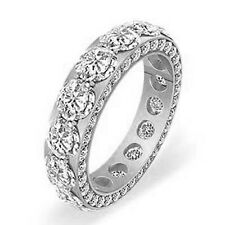 5 Ct Round F-G VS2 Diamond Eternity Wedding Anniversary Band Ring PLATINUM 950