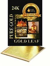 10 X 24K hojas de hoja de oro. diseño Arte Manualidades Dorado encuadre grande de 8 Cm
