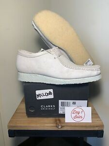 Clarks Originals Wallabee 26158421 White Suede 2021 Brand New Size 11