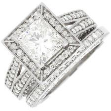 Certifié Gia Radiant Bague Fiançailles Diamantée 2.10 Cts 18k Or Jewelry & Watches Fine Rings