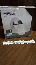 MASSIVE-PHILIPS APPLIQUE RIGEL 52220/11/10 ACCIAIO VETRO - BIANCO - E14 CLASSE A