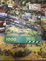 Springbok - 1000 Piece Jigsaw Puzzle- WHISTLE STOP - COMPLETE ( Trains )