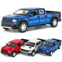 1:32 Ford Raptor F-150 Pickup Truck Model Car Diecast Gift Toy Vehicle Pull Back