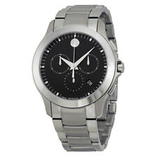 Movado Masino Chronograph Black Dial Mens Watch 0606885