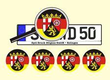 4 x Nummernschild Aufkleber Rheinland-Pfalz Germany AU Ersatz Plakette Flagge