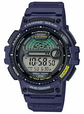 Casio Ws1200h-2av 10 Year Battery Watch 100 Meter WR Fishing Gear 3 Alarms