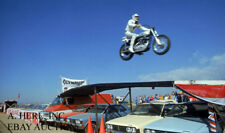 Evel Knievel & Harley-Davidson XR750 - in full flight - motorcycle photo 3