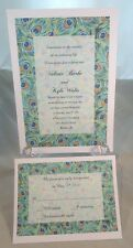 200 PEACOCK WEDDING INVITATIONS + 200 RSVP CARDS CUSTOMIZED AND PERSONALIZED 4 U