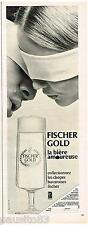 PUBLICITE ADVERTISING 105  1967  La Bière FISCHER GOLD le chopes bavaroises